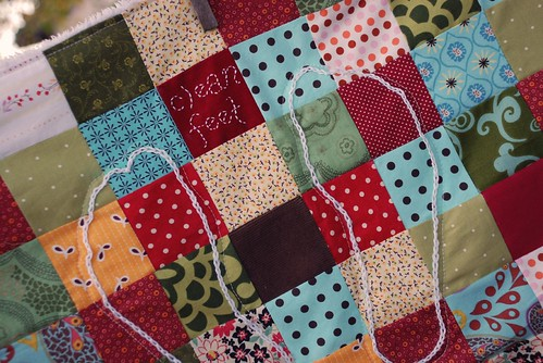 patchwork bath mat close up | by sew liberated