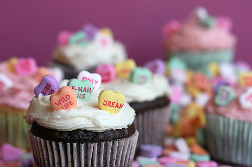 Candy Heart Cupcakes | by Bakerella