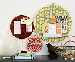 fabric hoop bulletin board | by kelee81