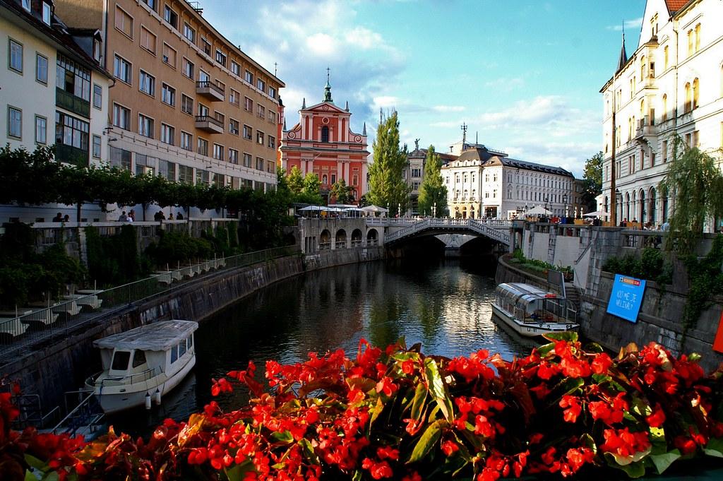 Ljubljana - Triple Bridge And Ljubljanica River