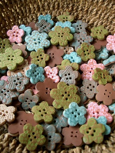 Buttons by Anat Dvir | by PatchworkPottery