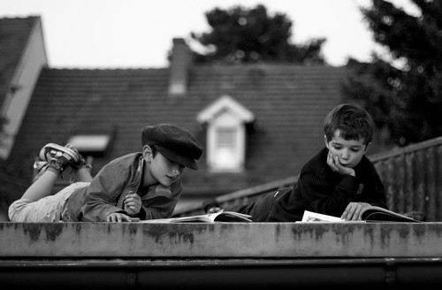 reading on the roof | by lanier67