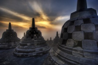 Caged Buddhas High in the Temple in Borobudur | by Stuck in Customs