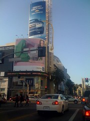 Clever advertising for Chevrolet's new electric car at Hollywood and Highland | by agentparanoia