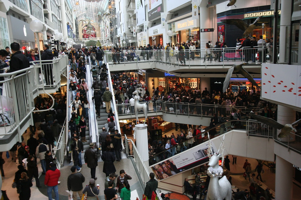 Eaton Center boxing day