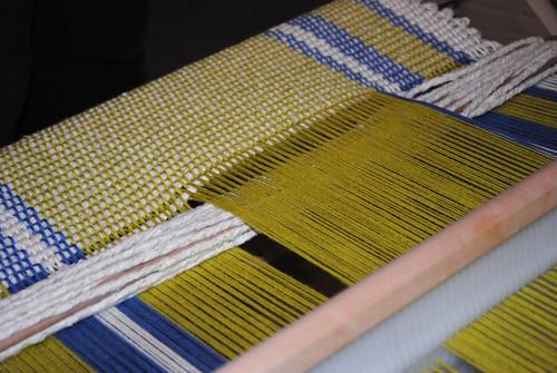 Pistachio & Periwinkle Weaving
