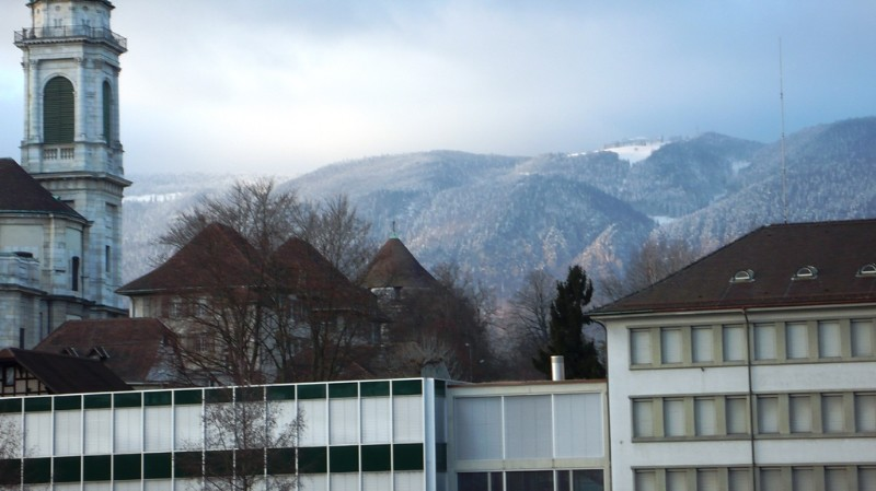 Jura mountains behind Solothurn