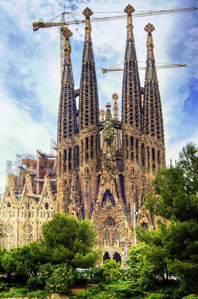 Temple expiatoire de la Sagrada Familia à Barcelone. Photo de Wolfgang Staudt