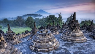 The Hidden Buddhist Temple of Borobudur at Sunrise | by Stuck in Customs