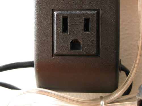 American Power Outlet. Image: rik rose, CC. Las Vegas electricity supply. Power Plug USA.