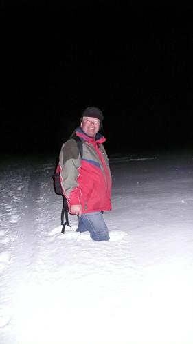 Joop, in lots of snow  We were walking on the frozen lake w