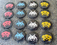 Space Invader badges | by koolbadges