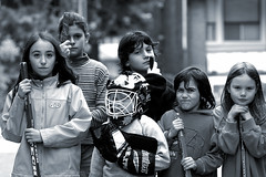 Kids playing road hockey | by Spacing Magazine