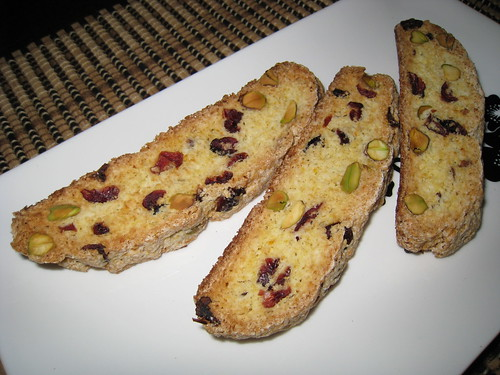 Cranberry, Orange and Pistachio Biscotti | by Kevin - Closet Cooking