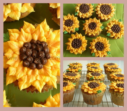 Sunflower Cupcakes | by Zara Miravent