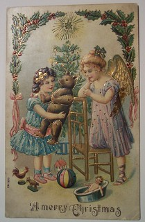 Vintage Christmas Postcard     Angels | by riptheskull