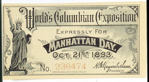 Ticket for Manhattan Day with Statue of Liberty | by The Field Museum Library