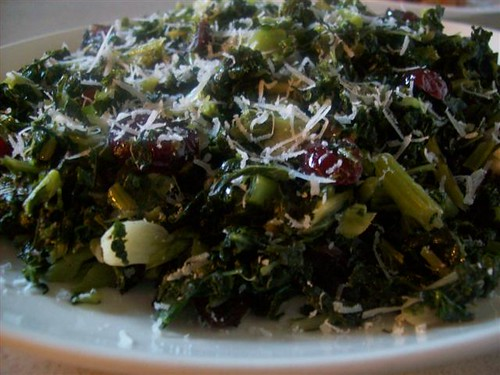 Kale w/ Garlic & Cranberries | by CinnamonKitchn