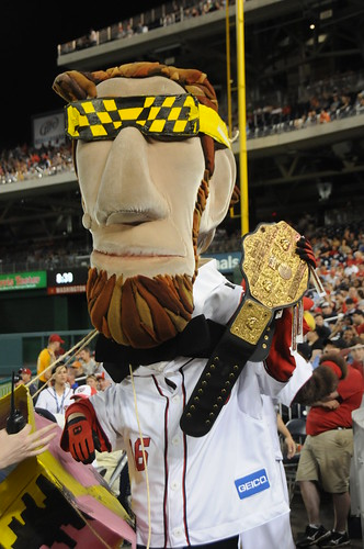 Nationals racing president Abe Lincoln tribute to Macho Man | by Photos from the blog at LetTeddyWin.com