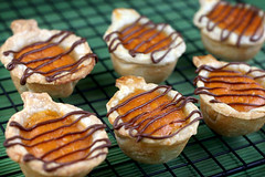 Drizzled Pumpkin Pies | by Bakerella