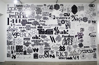 Logo Wall, 2009 Created for Lubalin Now 142 logos designed by Herb Lubalin and collaborators | by Michael Surtees