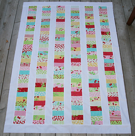 Oh Cherry Oh Stacked Coin Quilt Top | by Fresh Lemons : Faith