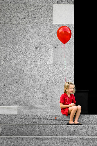 The Girl With The Red Balloon | by sfrancisball