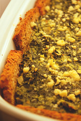 Spinach and bread tart | by Veggie Delish