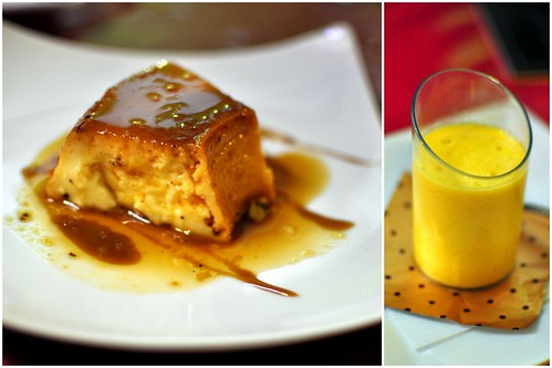 FLAN & MANGO MOUSSE COLLAGE | by Cathy Chaplin | GastronomyBlog.com