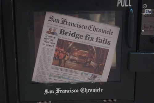Bridge fix fails - San Francisco Chronicle | Steve Rhodes ...