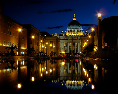 St. Peter's and a Puddle | by John Overmeyer
