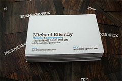 Tecknografick business card 2009 | by Michael Effendy Photography