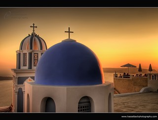 Santorini ~ Orange Sunset ~ Greece | by Hasselbach Photography