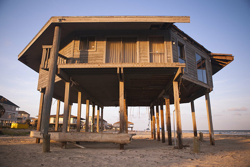 Abandoned Galveston Beach House Courtesy Hurricane Ike Flickr