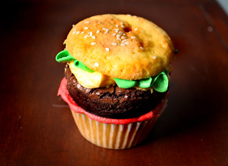 hamburger brownie cupcake | by saucy dragonfly