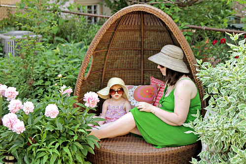 Me and Eleanor in the Egg Chair | by Nicole Balch