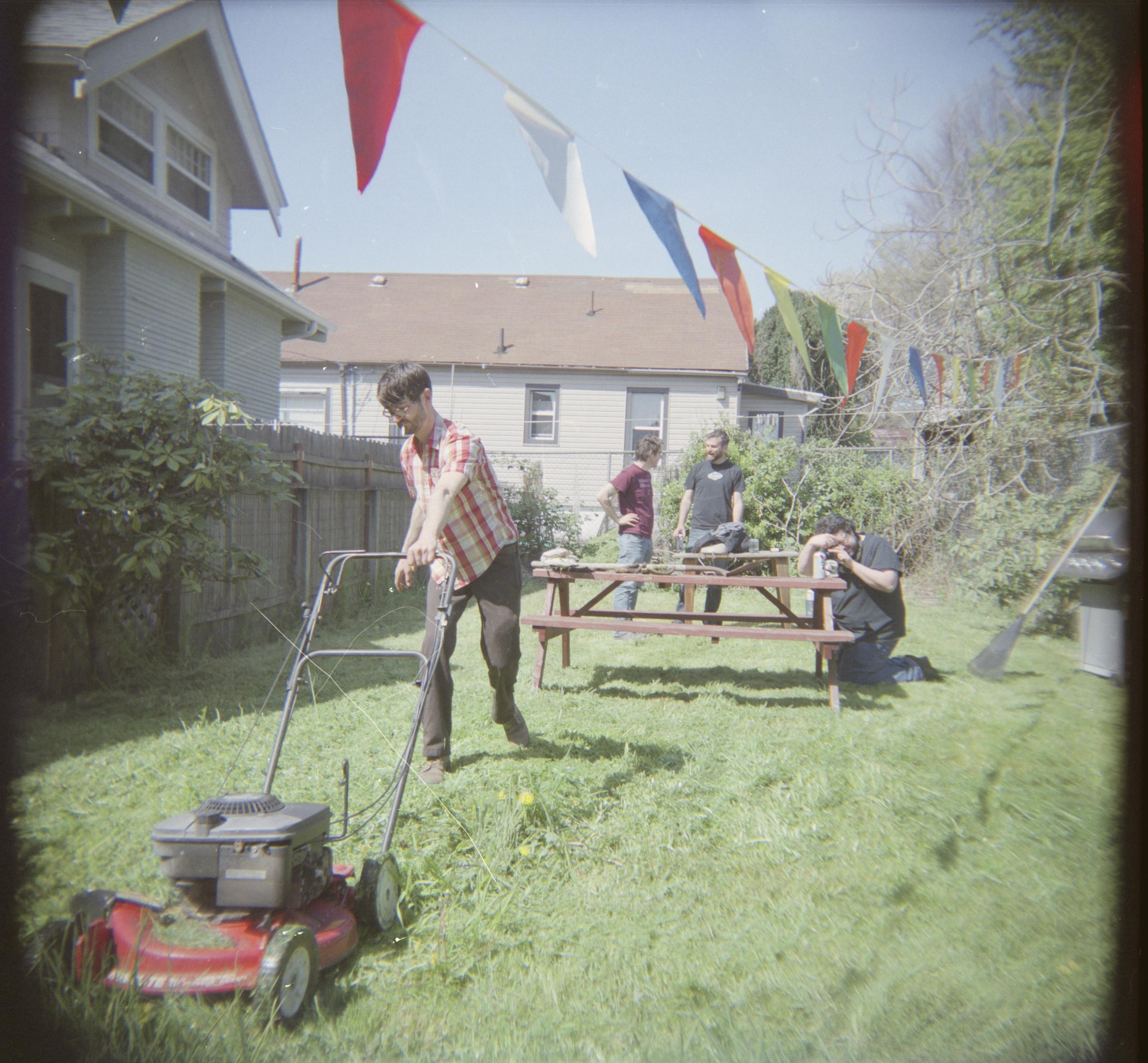 jeff mowing