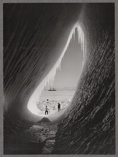 Grotto in an iceberg, photographed during the British Antarctic Expedition of 1911-1913, 5 Jan 1911 | by National Library NZ on The Commons