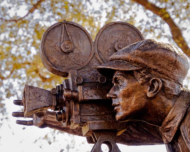 Bronzed Cameraman Closeup