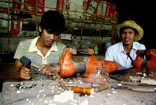 Woodworkers, Southern Cambodia | by The Hungry Cyclist