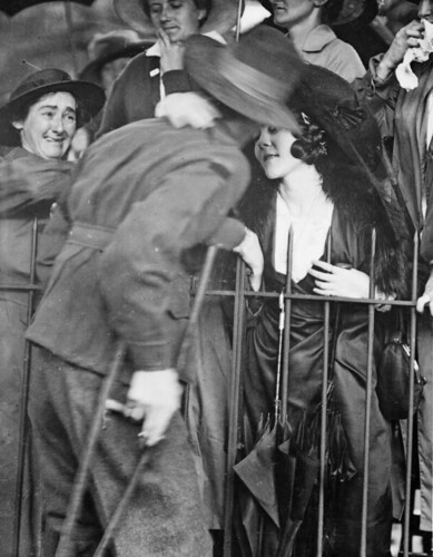 A welcome home kiss, 1919 | by Australian War Memorial collection