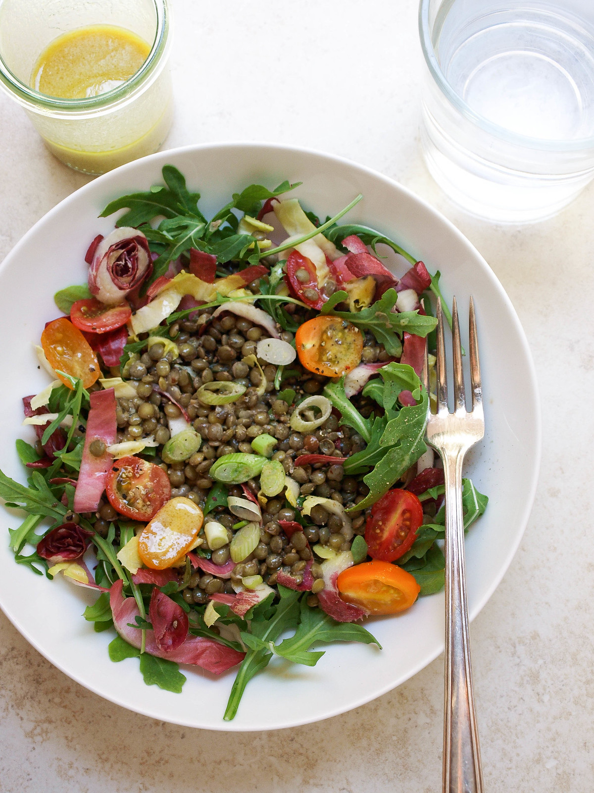 French Lentil & Bitter Greens Salad