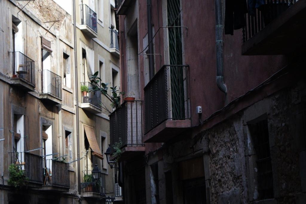 Rue dans le quartier de la Ribera à Barcelone.