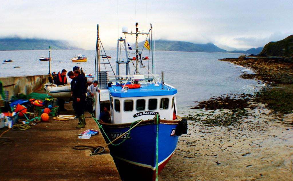 Fishing boat at Elgol Harbour, Skye, Scotland.