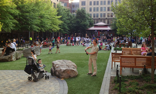 Evening in Rockville Town Square, July 2013