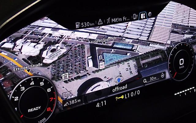 audi virtual cockpit Infotainment-Modus Navigation Google Earth