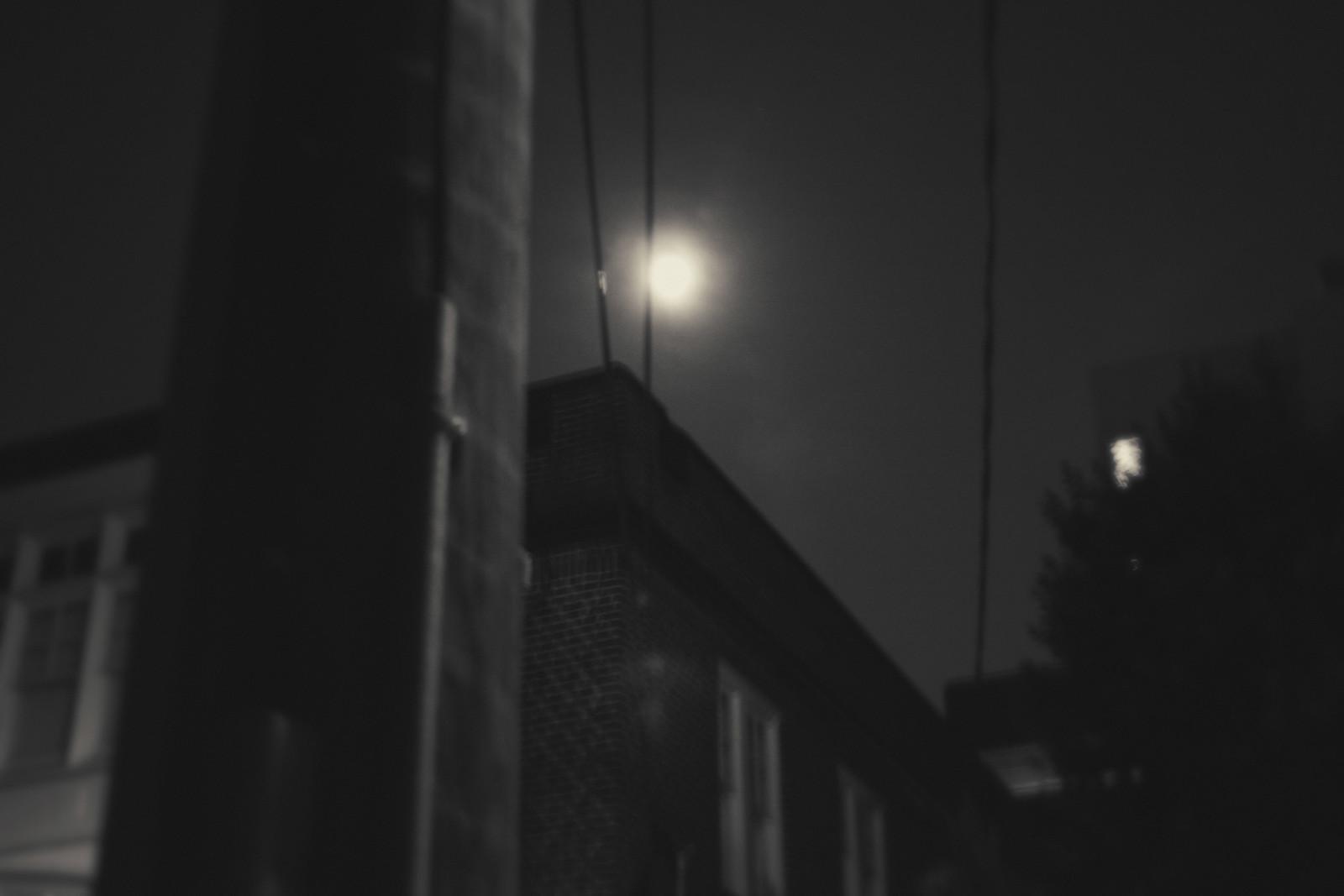 Moon over Midtown Atlanta