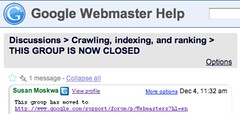 Google Webmaster Groups Closes | by rustybrick