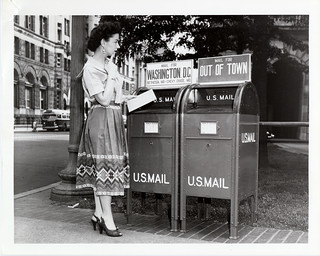 Woman Mailing a Letter | by Smithsonian Institution