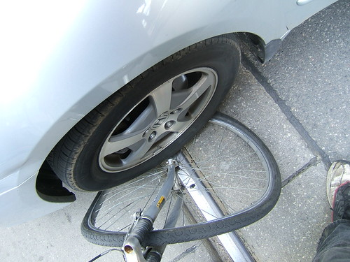 My Bike Wheel Meets A Useless Toronto Driver | by Erik Twight